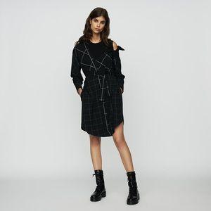 Maje black off shoulder dress